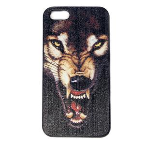 Чехол iphone 5 волк рычащий, с клыками